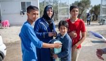 Une famille de réfugiés syriens.   Photo de CAFOD Photo Library