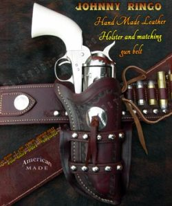 Johnny Ringo leather holster and belt