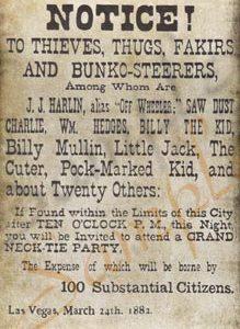 Las Vegas Vigilante Notice Poster