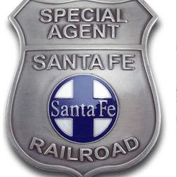 Special Agent - Santa Fe Railroad Badge