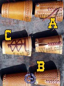 Custom Handmade Leather Wrist Cuffs