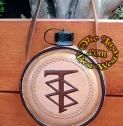 Custom Leather covered canteen