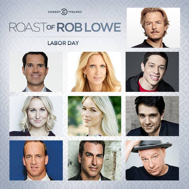 Comedy Central announces full dais for The Roast of Rob Lowe