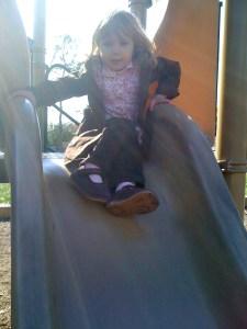 Squiggle Bug on the slide
