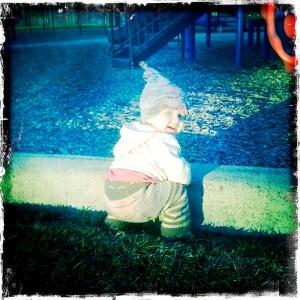 E on the playground