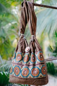 a.ku designs brown bag