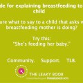Eplaining breastfeeding to a child meme