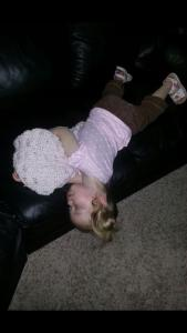 sleeping falling off the couch