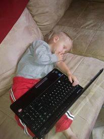 sleeping like daddy
