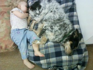 sleeping with toddlers best friend