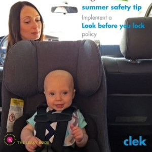 clek car seat safety in summer