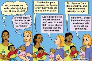 breastfeeding bottle feeding cloth diapering