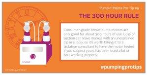 300 hour breastpump rule