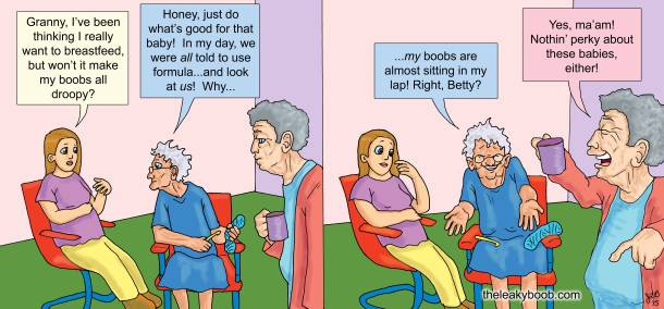 TLB comic, funny Friday, Grandmas and Saggy Boobs