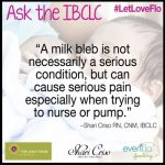 Ask The IBCLC- Migraines, Blebs, and Teething
