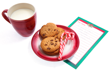 Christmas Wish List with Cookies and Milk