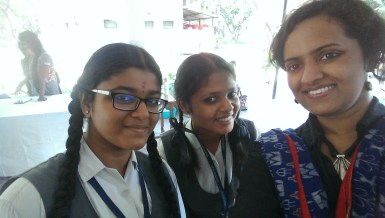 A selfie with two participants