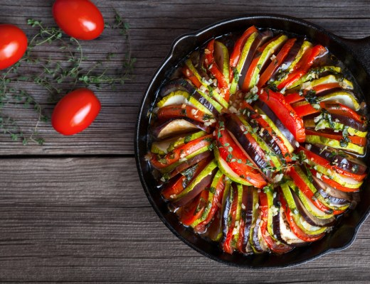 Neatly assorted Ratatouille - Recipe below
