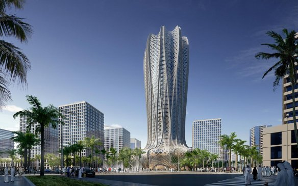 Design Zaha Hadid Tower in Qatar