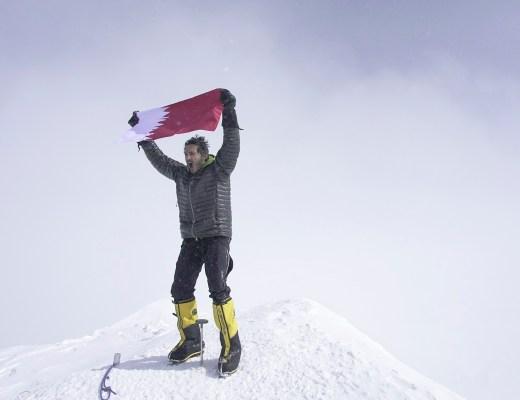Sheikh Mohammed bin Abdullah Al Thani at the top of Denali, the first Qatari to reach the seven summits - Qatar Foundation