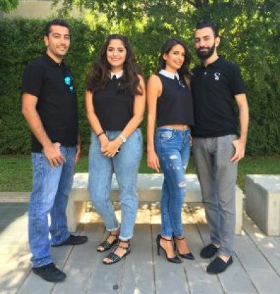 TopShou team with founder Loubna Ibrahim (second from the right)