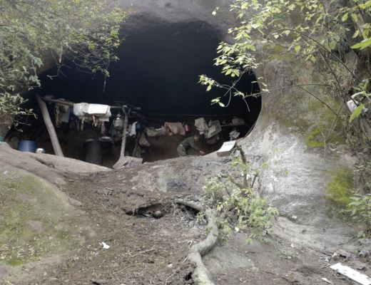The cave Argentinian Pedro Luca has lived in for the past 40 years
