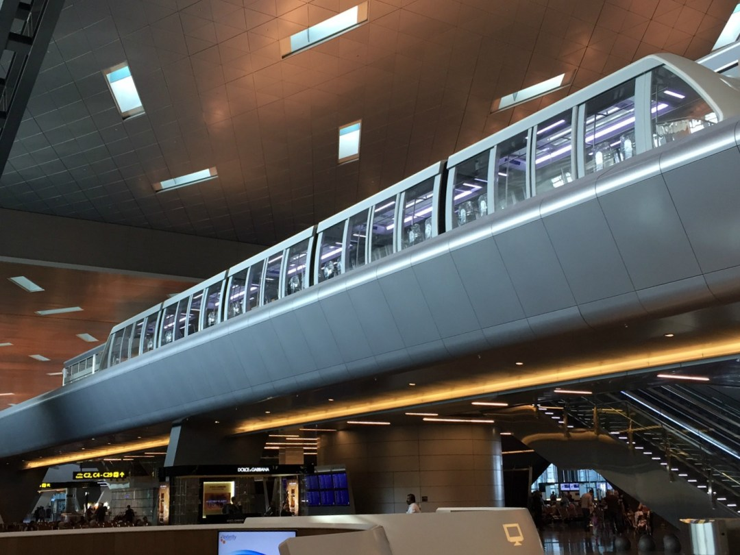 The Hamad International Airport monorail that will launch tonight at midnight
