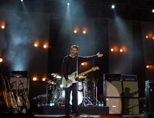 Bryan Adams on stage in Romania