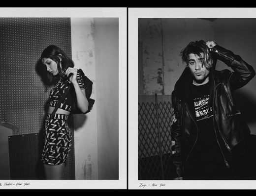 Bella Hadid and Zayn Malik staring the new Zayn x Versus campaign by Versace