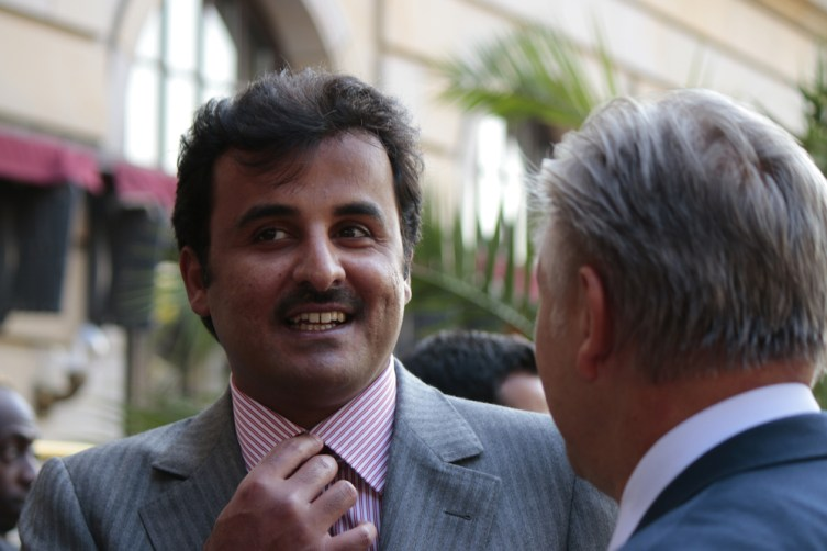 The Emir of Qatar, Sheikh Tamim bin Hamad bin Khalifa Al Thani, in Berlin, 2014.
