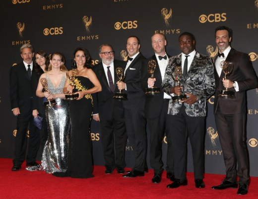 The cast of Veep, winners at the 69th Primetime Emmy Awards