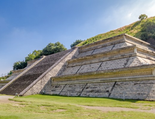 standing larger than the great pyramid of giza, the great pyramid of cholula in mexico is the largest in the world