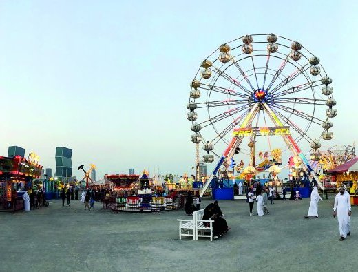 Entertainment World Village, the largest open-air amusement park in Doha, Qatar