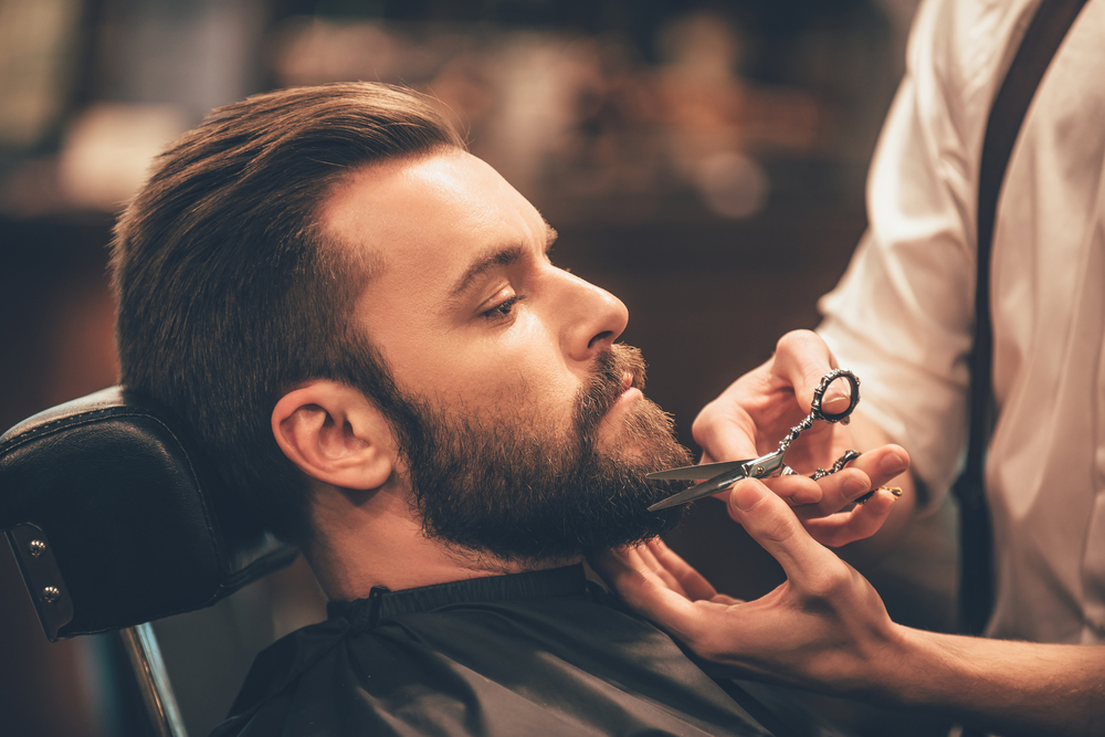 bearded man with beard (science proves beards help maintain healthier skin)