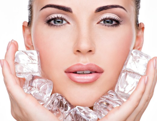 an ice cube can help you close open pores, cure a pimple and even swollen eyes