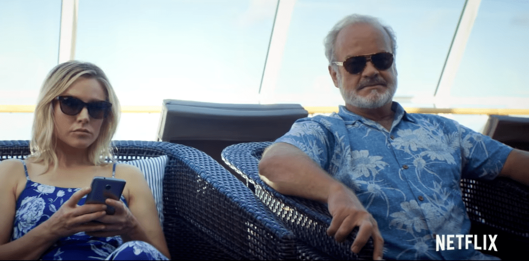 kelsey grammer, Kristen Bell and seth rogen star in like father on netflix