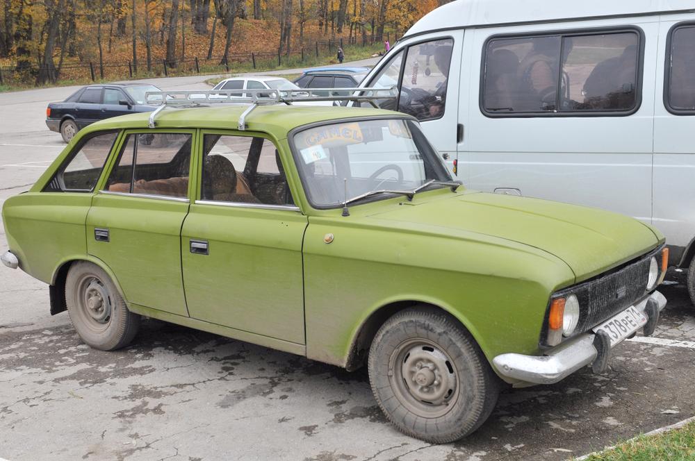 A Soviet-era Izh hatchback