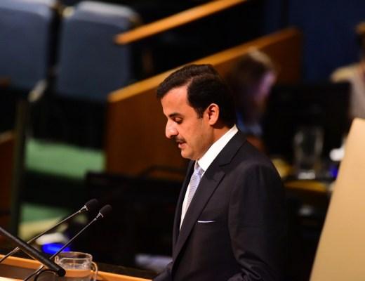 Emir of Qatar Sheikh Tamim bin Hamad Al-Thani pledged educational aid to 1 million school girls