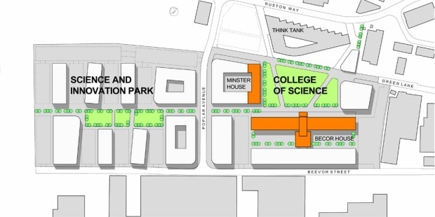 An overview plan of the new science park at the University of Lincoln. Image: UoL