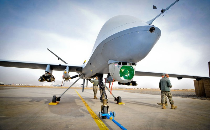 Reaper, a Remotely Piloted Air System (RPAS), part of 39 Squadron Royal Air Force. The Reaper has completed 20,000 operational flight hours in theatre, and is operated from Kandahar Air Field (KAF) in Afghanistan.