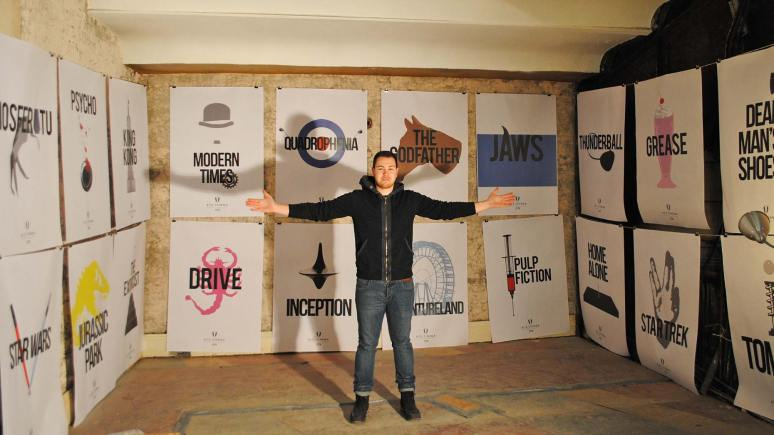 Lincoln-based designer Leo Cripps shows off his poster designs for The Ritz.