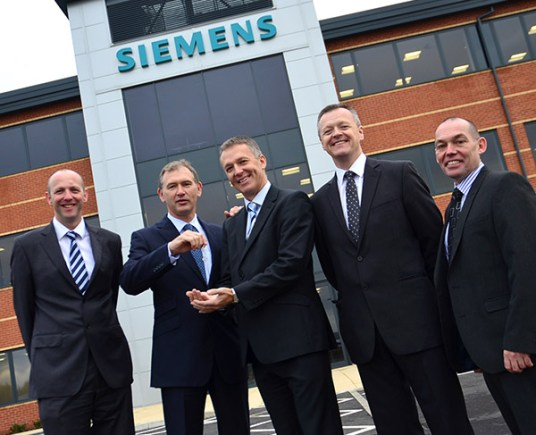 Siemens got the keys to their new Teal Park offices in October 2012.