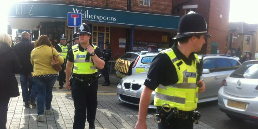 The incident took place in and around The Ritz Pub before the Lincoln v Luton game in October 2012.