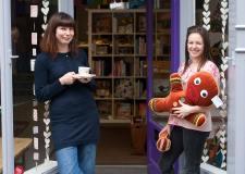 Shop owner Elizabeth Dimmock (left) and Michelle Forrest. Photo: Electric Egg