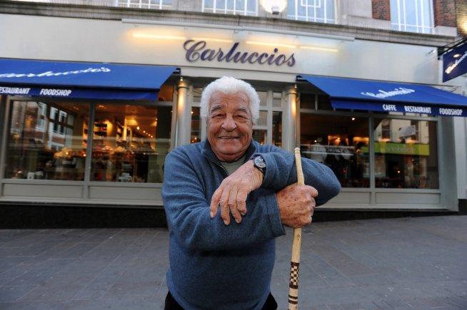 Chef and TV presenter Antonio Carluccio, outside the Carluccio's restaurant on Lincoln High Street. Photo: Stuart Wilde