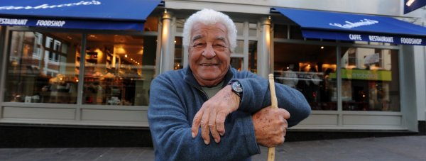 Chef and TV presenter Antonio Carluccio, outside the Carluccio's restaurant on Lincoln High Street. Photo: Stuart Wilde
