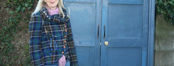 Marion Horsecroft and her TARDIS shed.