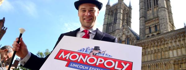 The Monopoly: Lincoln Edition was announced at Lincoln Cathedral on May 16. Photo: Steve Smailes for The Lincolnite
