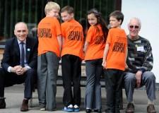 Chris Williamson (left) visits Bishop King School with Councillor Brent Charlesworth. Photo: Stuart Wilde
