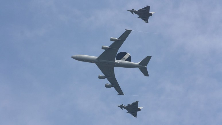 Photo of the practice flypast over Lincoln by Danny Wilkinson